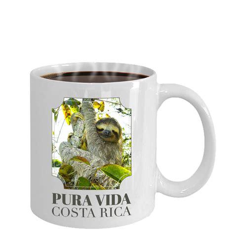 Save on your drinkware with unique designs or create your own. Pura Vida Costa Rica Sloth coffee mug cup Souvenir gifts | Mugs, Pura vida, Coffee mugs