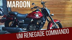 UM Renegade Commando Limited Maroon Color Walk Around