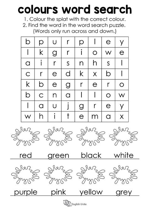 colours word search puzzle unite unite  images