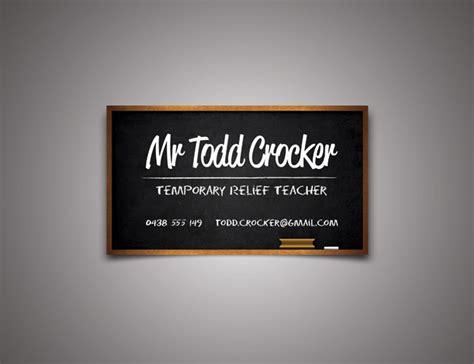 Temporary Relief Teacher Business Card Business Card Case Carbon Fiber Printing At Staples Multiple Companies Design Classic Indigo Creation Online Cutter Slitter Acrylic