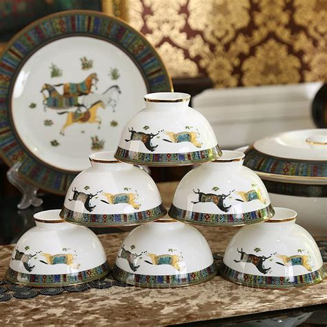 dinnerware china sets porcelain bone horses god dinner outline coffee gift gold wedding dhgate