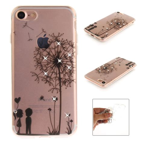 bling flower pattern back soft tpu cover for iphone 7 plus 6 plus 5 ebay