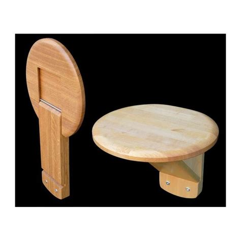 wall mounted hallway folding chair  oak wall seating