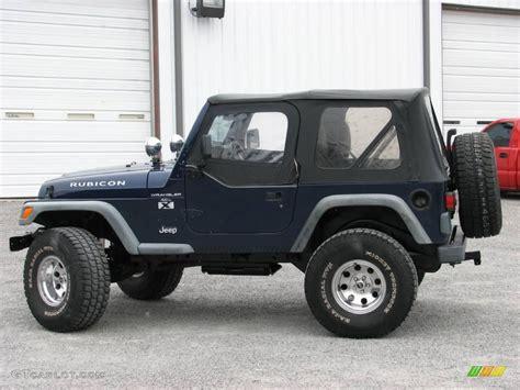 jeep dark blue 1997 dark blue pearl jeep wrangler rubicon 4x4 24436635