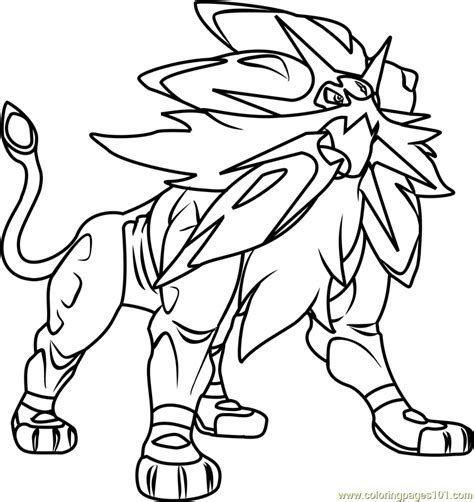 Pokemon Sun and Moon Coloring Pages