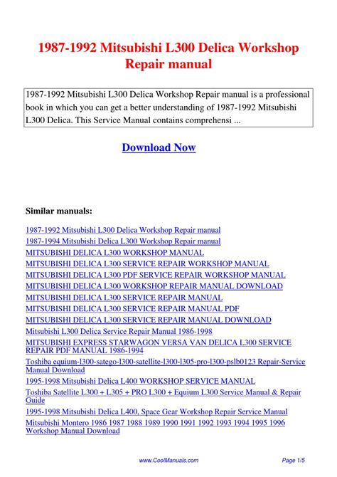 free auto repair manuals 1990 mitsubishi l300 free book repair manuals 1987 1992 mitsubishi l300 delica workshop repair manual pdf by linda pong issuu