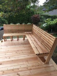 built  deck bench plans bench   support