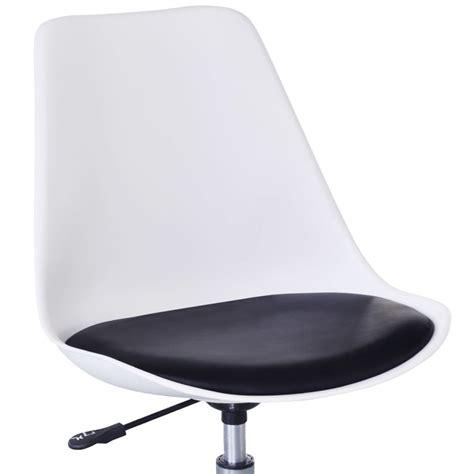 chaise pivotante pas cher acheter 4 chaises pivotantes réglables en noir et blanc pas cher vidaxl fr