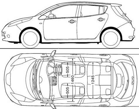 Nissan Leaf Dimensions by Nissan Leaf Car Dimensions