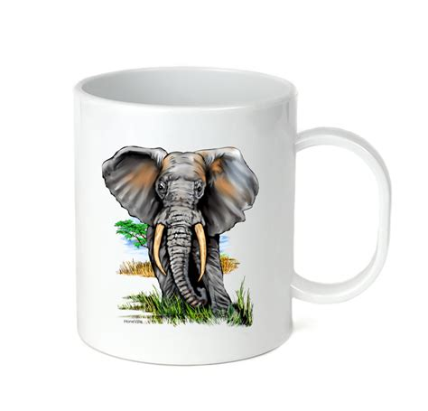 Black mugs are a slightly softer black than it appears in the. Coffee Cup Mug Travel 11 15 Oz African Wildlife Nature Elephant - Mugs