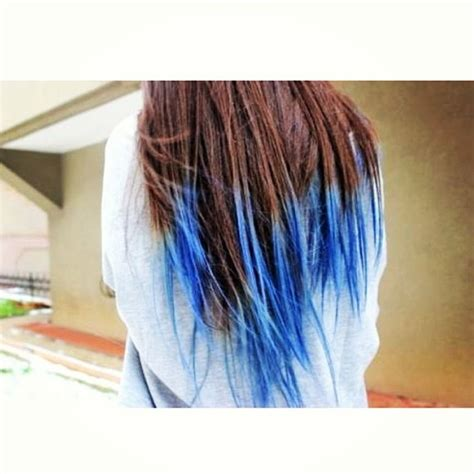 Blue Dip Dye With Brown Hair I Need To Try That Hair