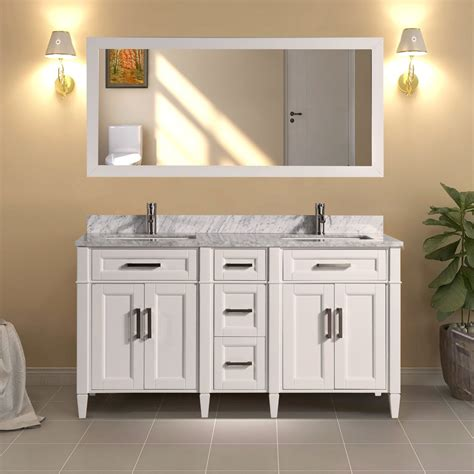 With millions of unique furniture, décor, and housewares options, we'll help you find the perfect solution for your style and your home. 60-Inch Double Sink Bathroom Vanity Set | Super White ...