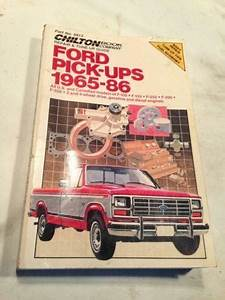 Chilton Repair Manual Ford Pickup