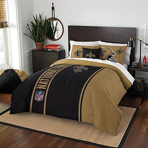 nfl new orleans saints embroidered comforter set bed