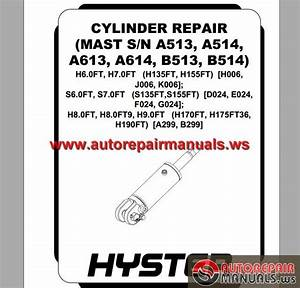 Hyster Cylinder Repair Service Manual