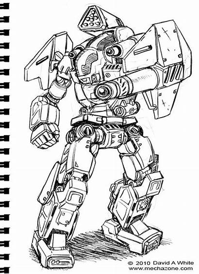 Mecha Tutorial Coloring Robots Master Cool Drawing
