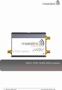 Maestro Wireless E206xt 3g Wifi Router User Manual