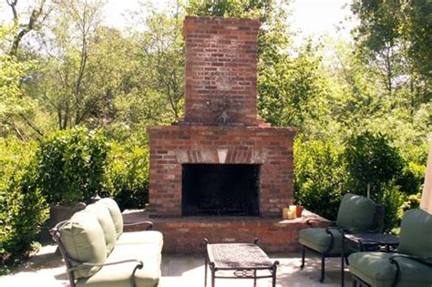 outdoor brick fireplace ideas outdoor fireplace design landscaping network