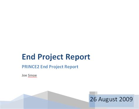prince  project report project closure report