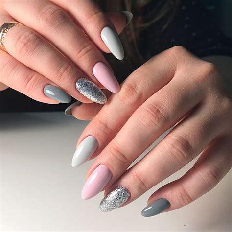 Идеи нейл дизайна на миндальную форму ногтей . Журнал NAILS