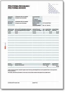 Rechnung In Die Schweiz Muster : pro forma rechnung pro forma invoice ch formular download ~ Themetempest.com Abrechnung