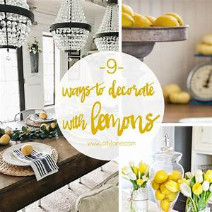 9 lemon home decor ideas - Lolly Jane