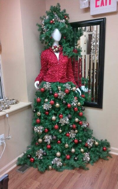 christmas tree designed   manikin   staff