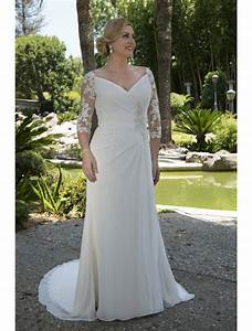 plus size informal modest wedding dresses 2017 ruched long With plus size wedding reception dresses