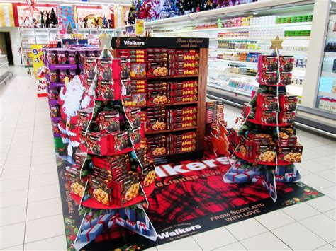 walkers promotion stand xmas