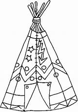 Indian Tepee Coloring Teepee sketch template