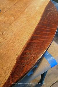 Brown Mahogany Gel Stained Table Top General Finishes