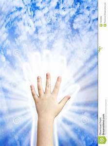 Hand of heaven stock photo. Image of majestic, like, shape ...