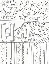 Coloring Pages Flag Doodle Alley Flags sketch template