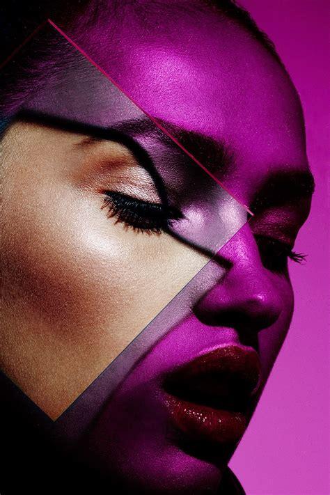 yadim makeup artist plexiglass graphic colorful dramatic