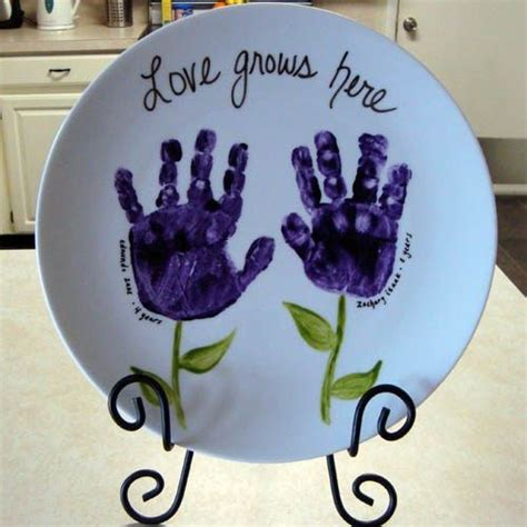 ceramic handprint art easy diy video instructions plate