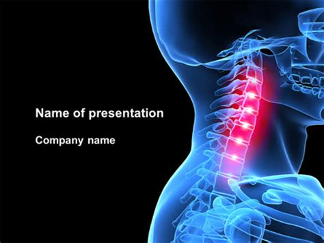 download powerpoint template metabolic free pain of the neck powerpoint template backgrounds 09023