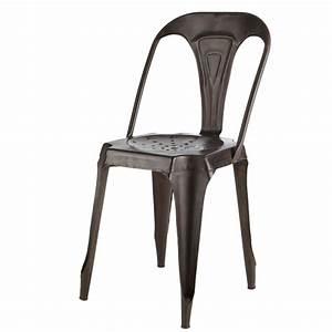 Chaise Métal Industriel : chaise indus en m tal effet vieilli chaises maison du monde et industriel ~ Teatrodelosmanantiales.com Idées de Décoration
