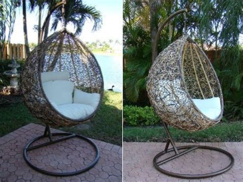 diy hanging outdoor bed the trully outdoor wicker swing chair