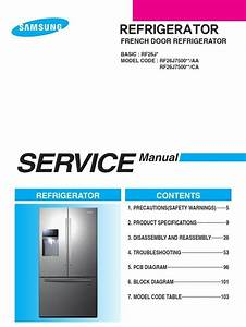 Samsung Rf26j7500 Rf26j7500sr Service Manual  U0026 Repair