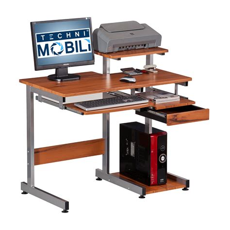 complete computer workstation desk with storage techni mobili techni mobili complete computer workstation desk ojcommerce