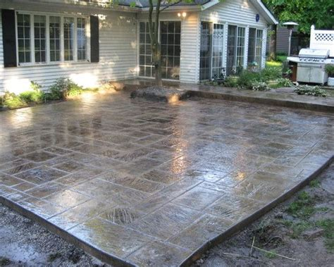 Stain, Patio Stamped Concrete Design, Pictures, Remodel