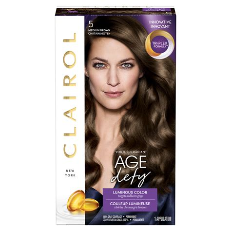 age defy hair color clairol age defy expert collection hair color 5 medium