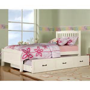 elise captain twin bed with trundle soft white walmart com