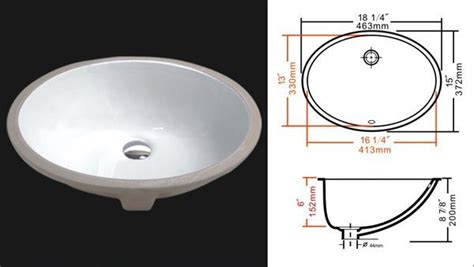 kitchen sinks undermount oval porcelain undermount bathroom sink 16 25 x 13 3064