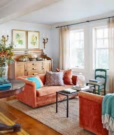Orange Sofa Living Room Living Room With Orange Sofa
