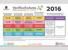 Verificación vehicular, calendario, costos y requisitos