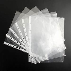 1 5000 a4 clear plastic punched pockets folders filing With clear plastic sleeves for documents