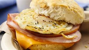 Ham, Egg and Cheese Breakfast Sandwiches Recipe ...