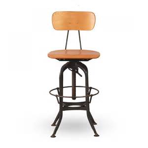 Height Adjustable Bar Stool by Toledo Vintage Nora Adjustable Kitchen Bar Stool 62cm