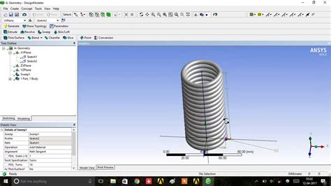 ansys workbench spring design youtube